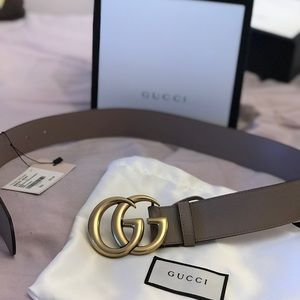 Gucci Accessories - Gucci Leather belt with Double G